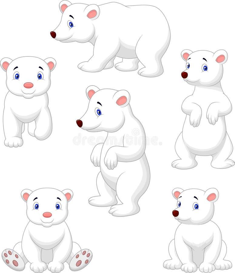 Colección Linda De La Historieta Del Oso Polar Ilustración del ...