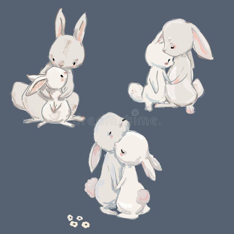 Colección linda de las liebres libre illustration