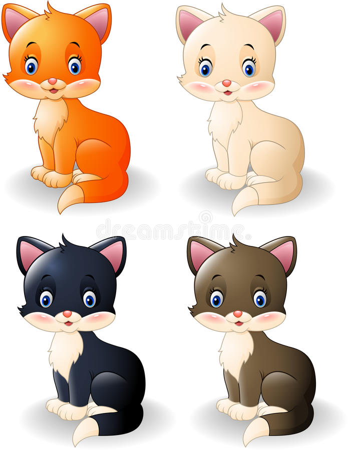 Colección linda del gato de la historieta libre illustration