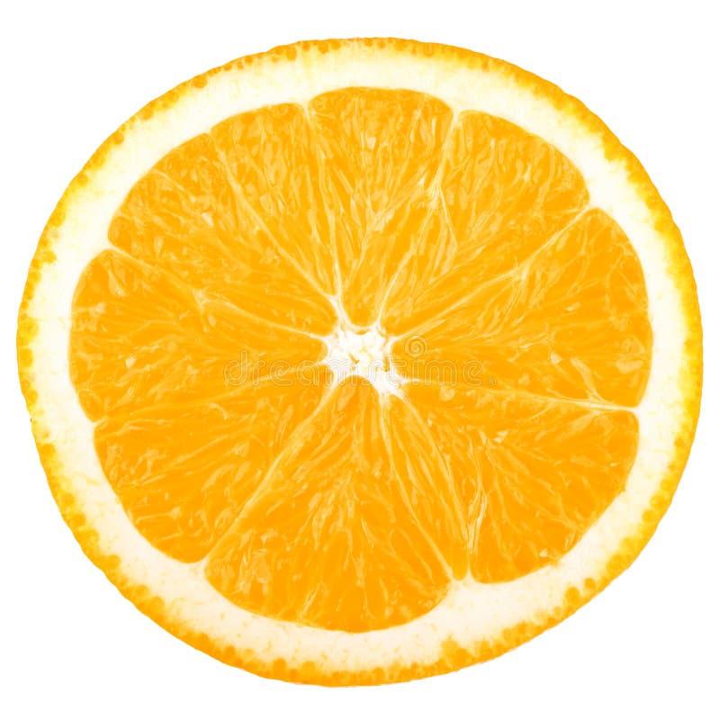 Colección macra del alimento - rebanada anaranjada fotos de archivo libres de regalías