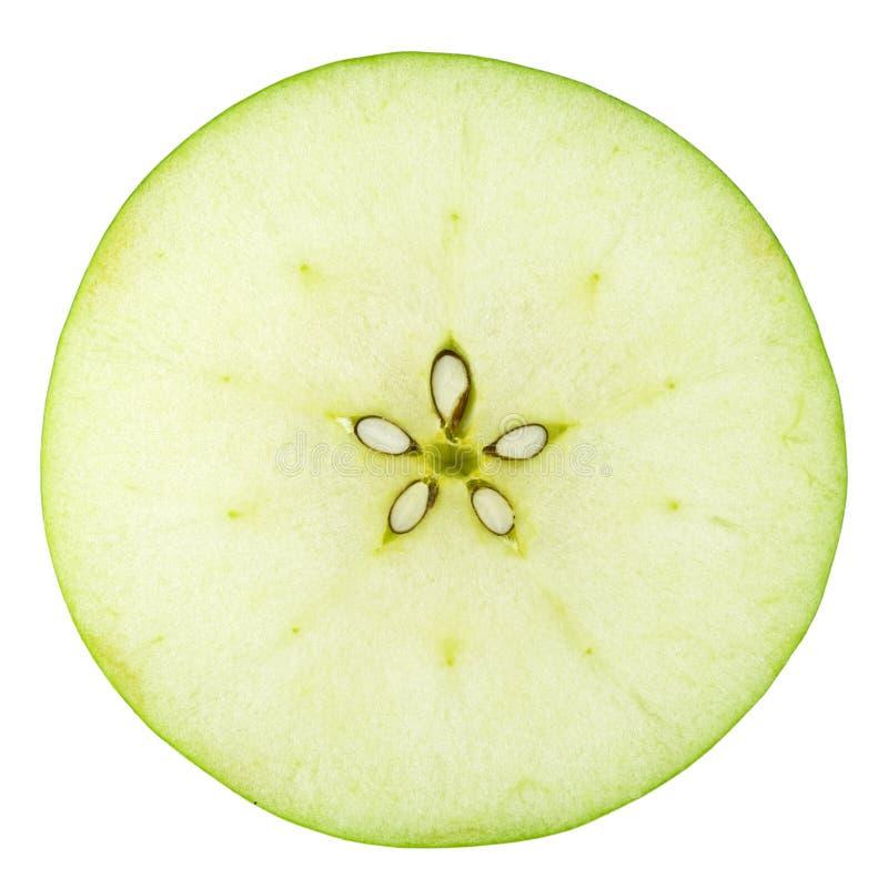Colección macra del alimento - rebanada verde de la manzana fotos de archivo libres de regalías