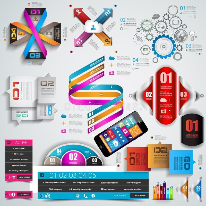 Colección mega de objetos de Infographics de la calidad. ilustración del vector
