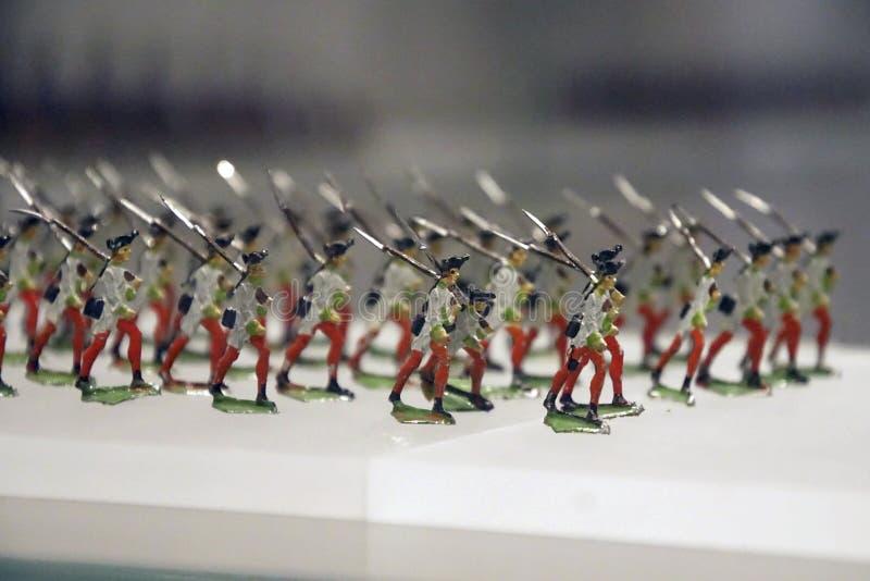 Colección miniatura del solider del juguete de la infantería imágenes de archivo libres de regalías