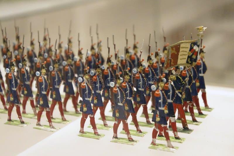 Colección miniatura del solider del juguete de la infantería foto de archivo libre de regalías