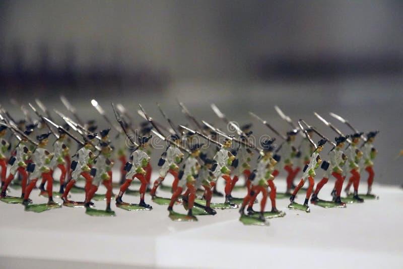 Colección miniatura del solider del juguete de la infantería imagen de archivo libre de regalías