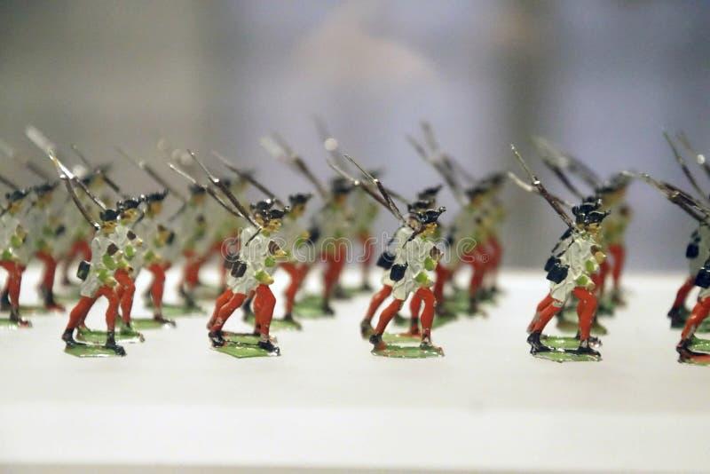 Colección miniatura del solider del juguete de la infantería imagenes de archivo
