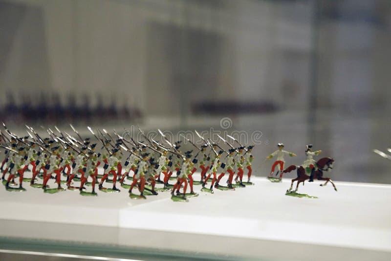 Colección miniatura del solider del juguete de la infantería foto de archivo