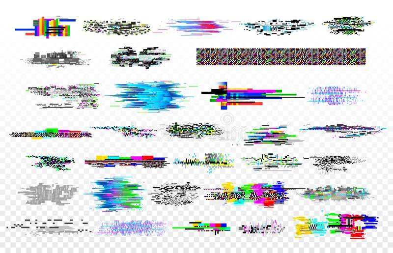 Colección moderna de la interferencia Las interferencias del ruido de la TV, el decaimiento de la señal del monitor y la pantalla libre illustration