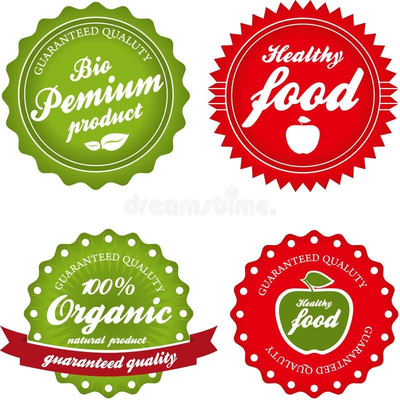 Colección orgánica de las etiquetas stock de ilustración