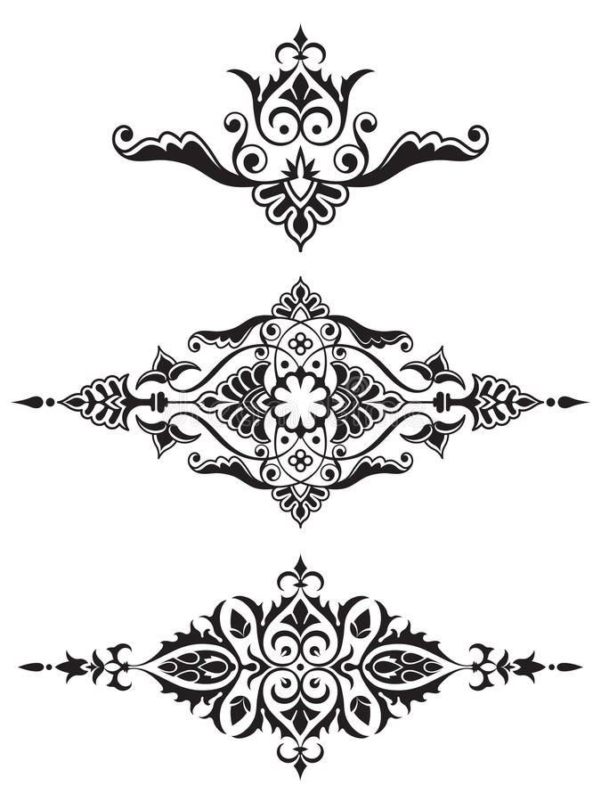 Colección ornamental del elemento del diseño libre illustration