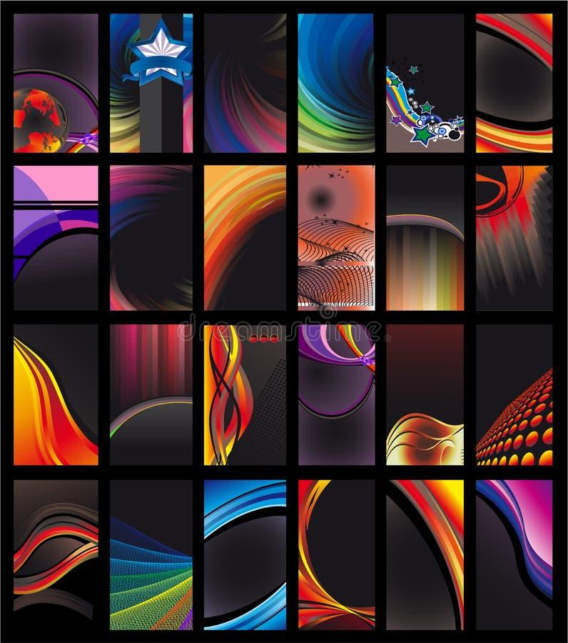 Colección oscura de la tarjeta de visita libre illustration