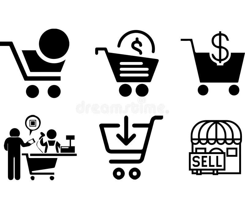 Colección para todo el diseñador toda del icono del negocio libre illustration