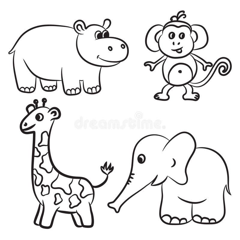 Colección Resumida Linda De Los Animales Del Parque Zoológico ...