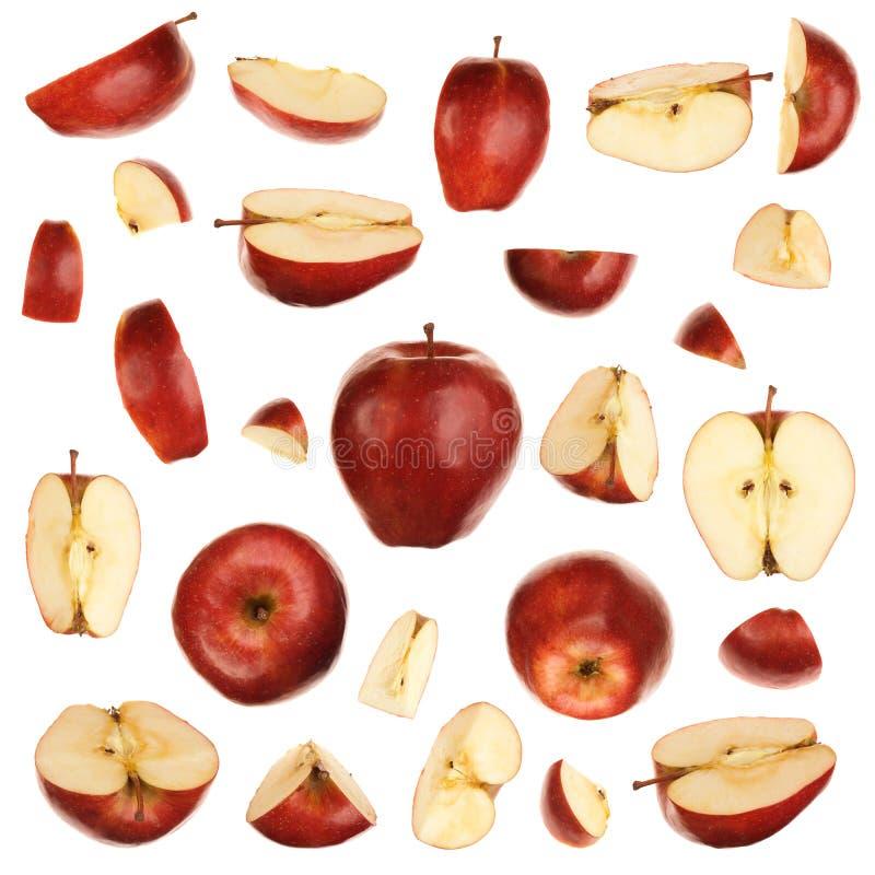 Colección roja de las manzanas imagenes de archivo