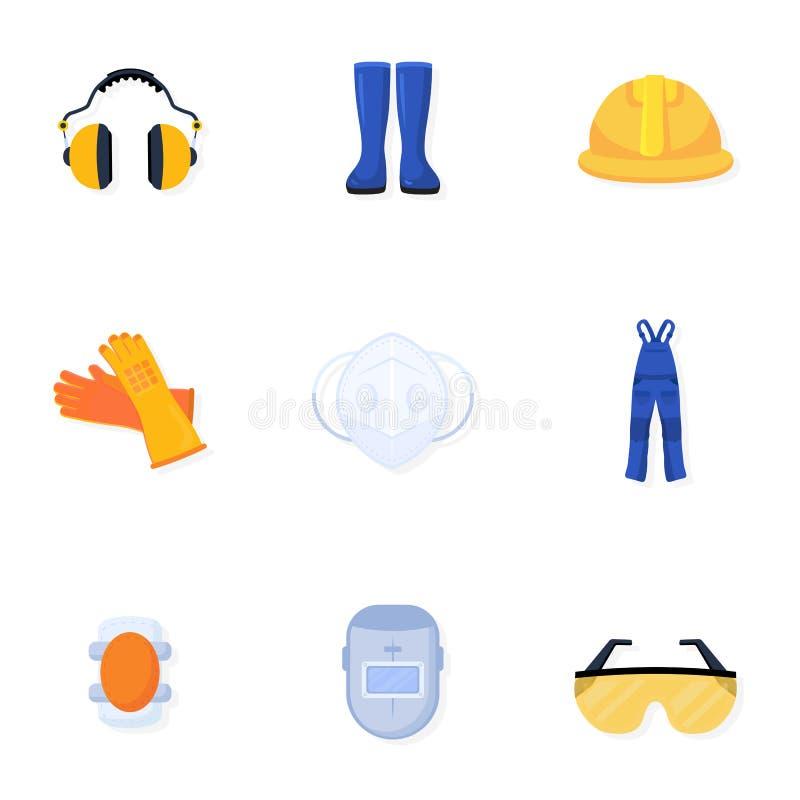 Colección uniforme de los ejemplos del vector del soldador libre illustration