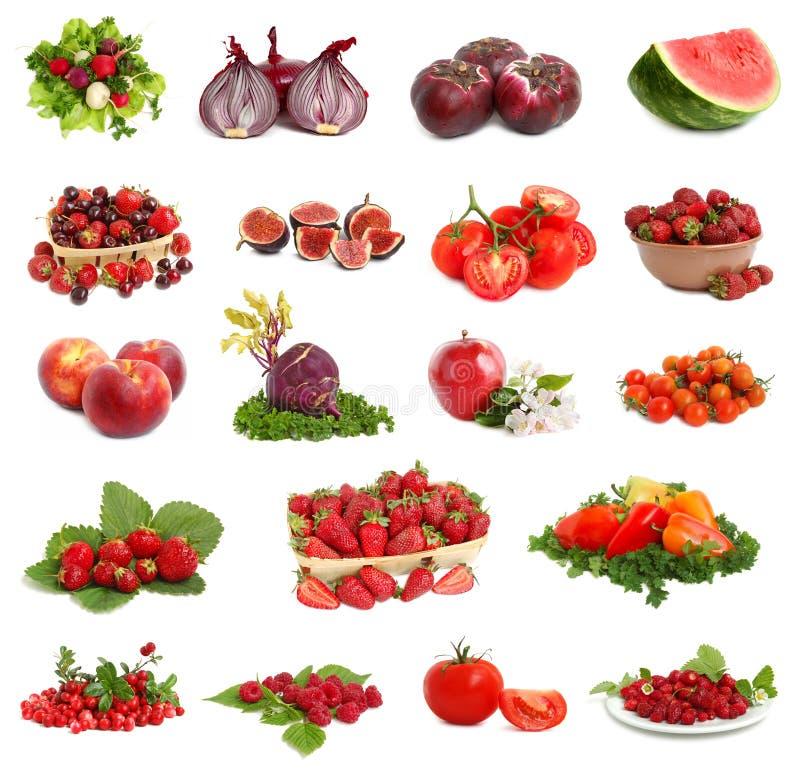 Colección vegetariana roja foto de archivo
