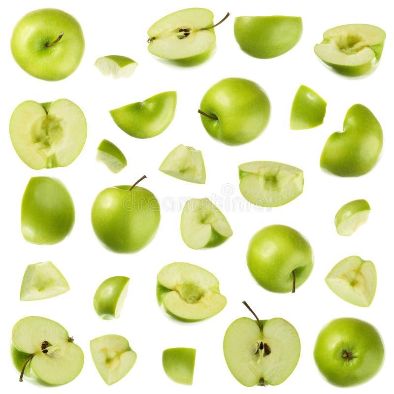 Colección verde de la manzana imagenes de archivo