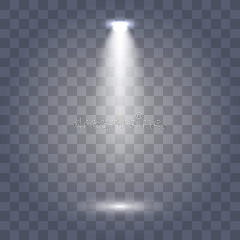 Colecci?n de la iluminaci?n de la escena, efectos transparentes ilustración del vector