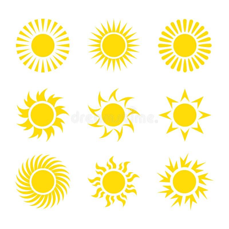 Colecciones amarillas creativas del diseño del icono de Sun libre illustration