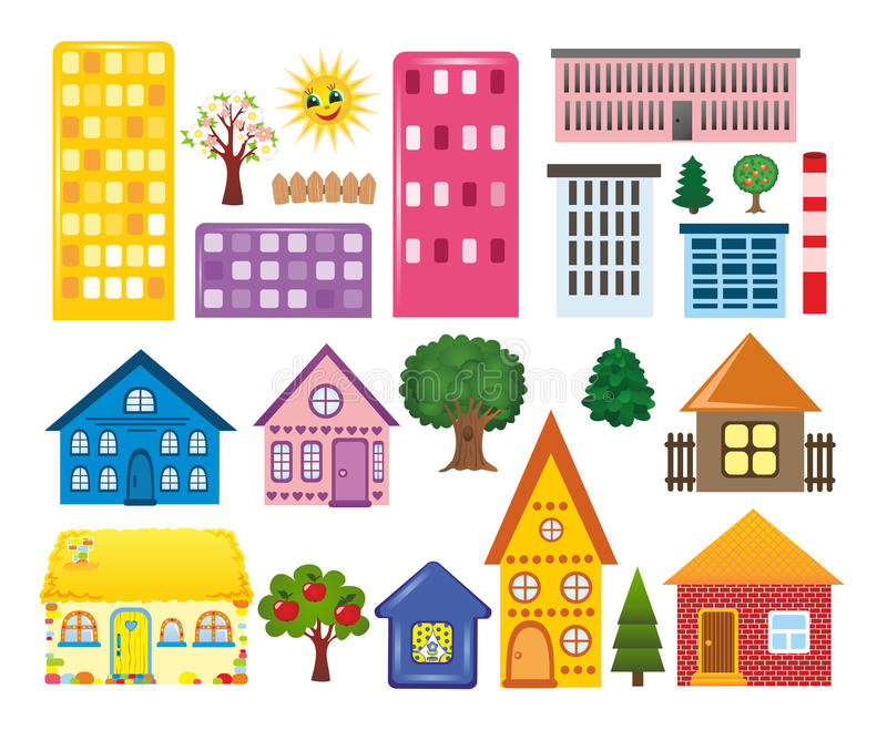 Colecciones de diversas casas libre illustration