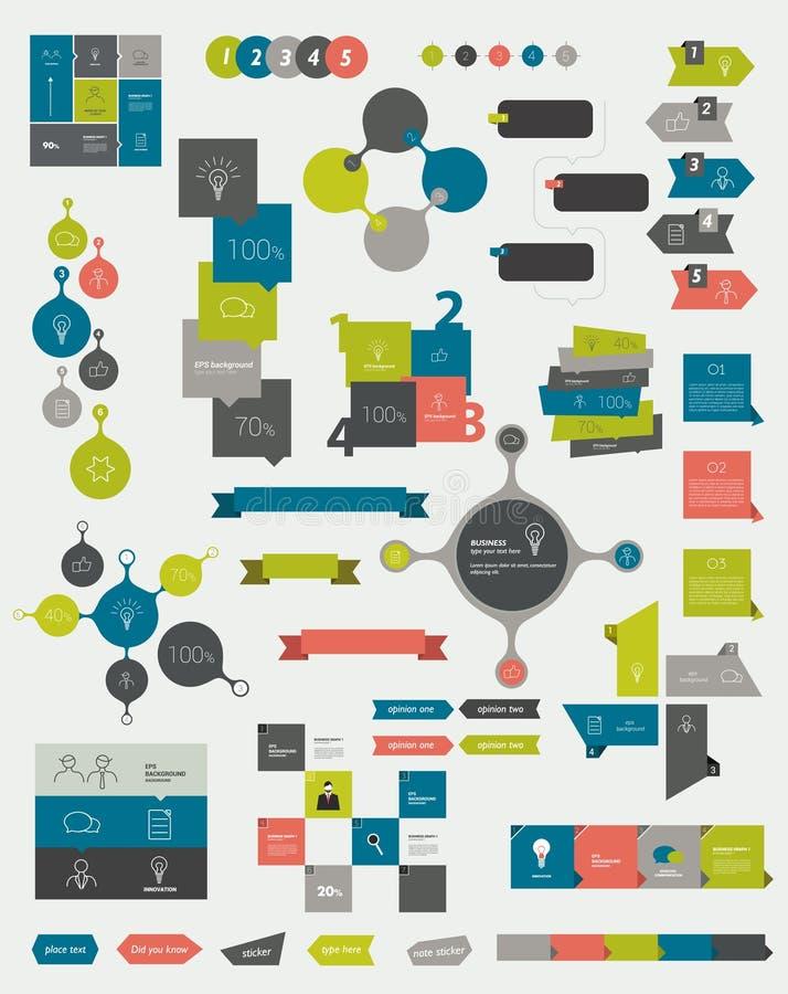 Colecciones de gráficos de la información ilustración del vector