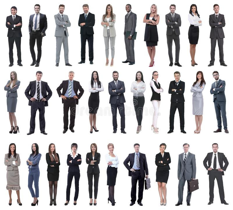 Colection of full length people stock image