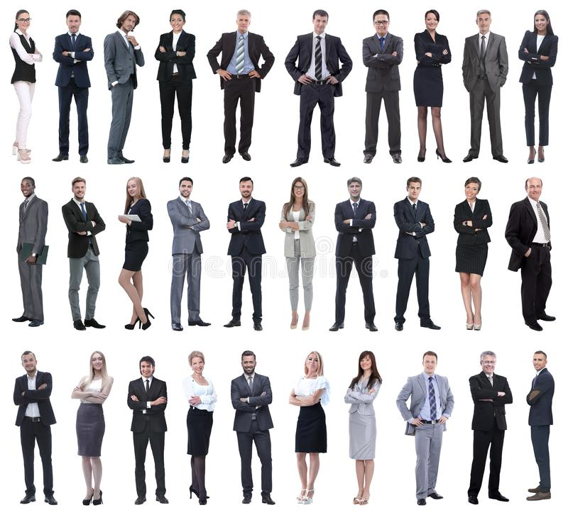 Colection of full length people. Set of business people isolated on white stock photography