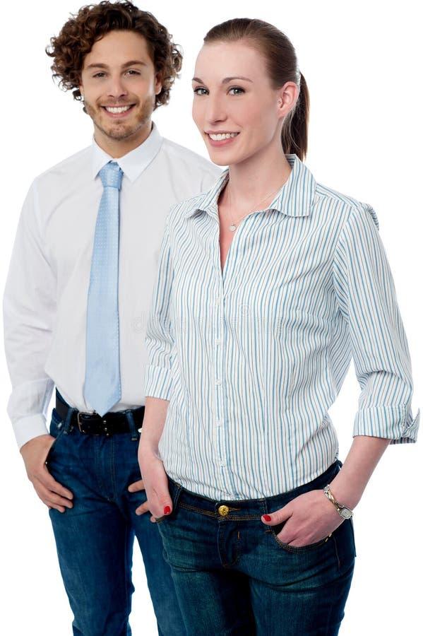 Colegas novos seguros do negócio imagens de stock royalty free