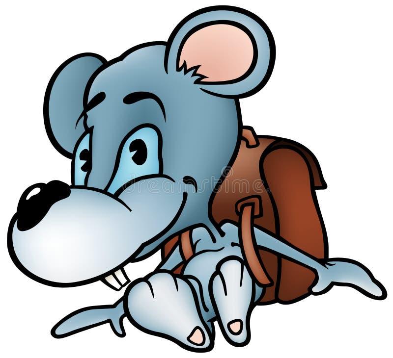 Colegial del ratón ilustración del vector