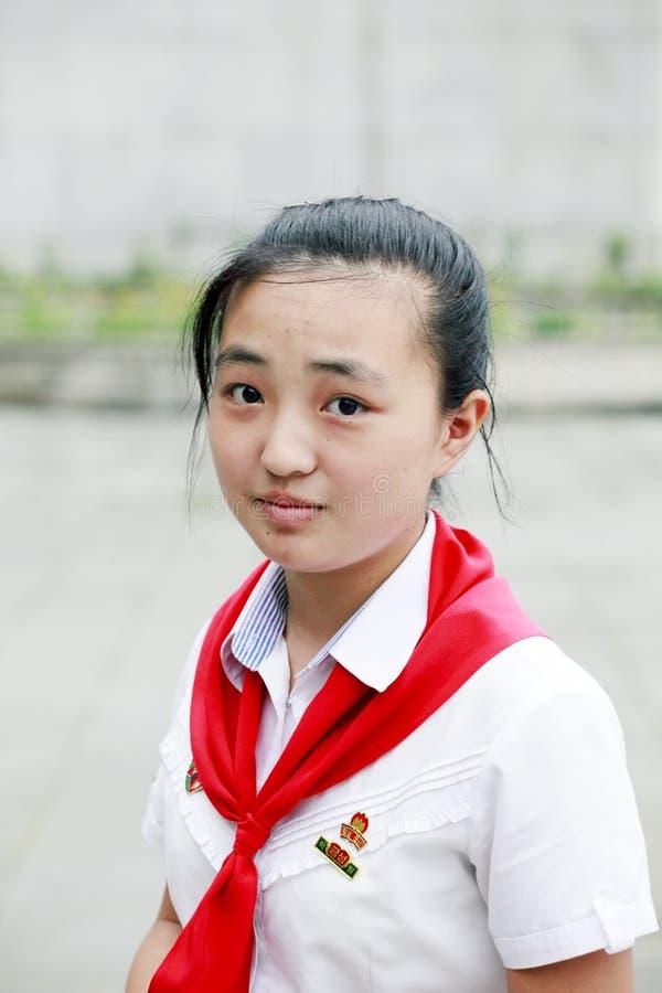 Colegiala norcoreana foto de archivo