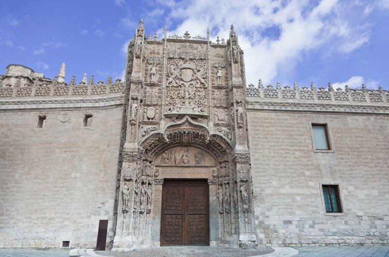 Colegio DE San Gregorio in Valladolid, Spanje stock afbeeldingen