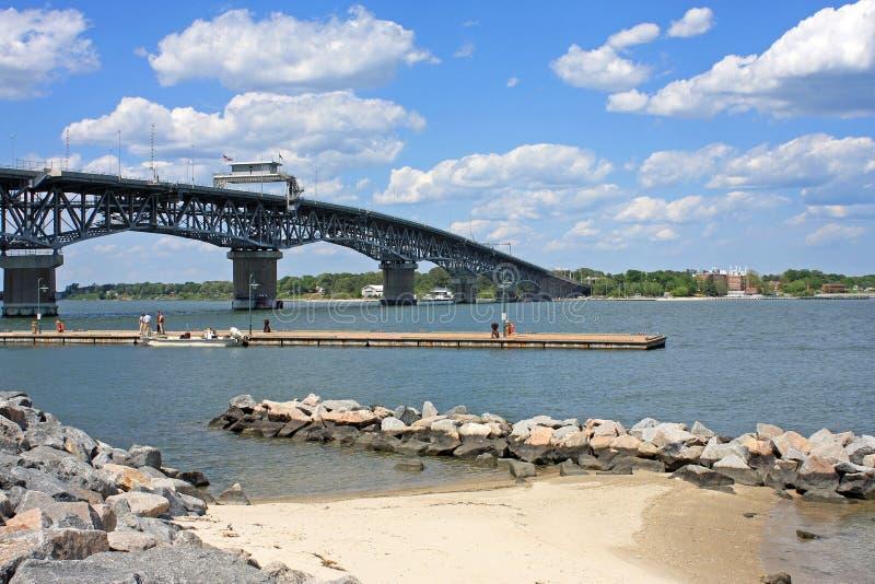 Coleman Memorial Bridge foto de archivo libre de regalías