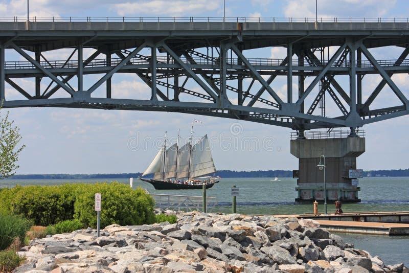 Coleman Memorial Bridge fotografia stock libera da diritti