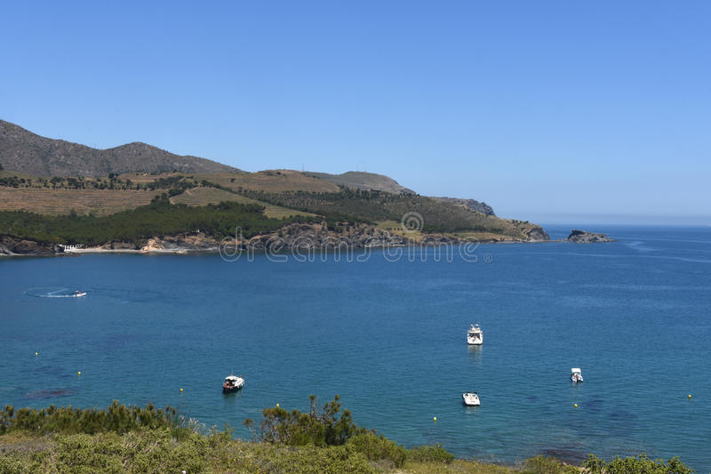 Colera. View of Colera island, Costra Brava , Girona, Spain royalty free stock image