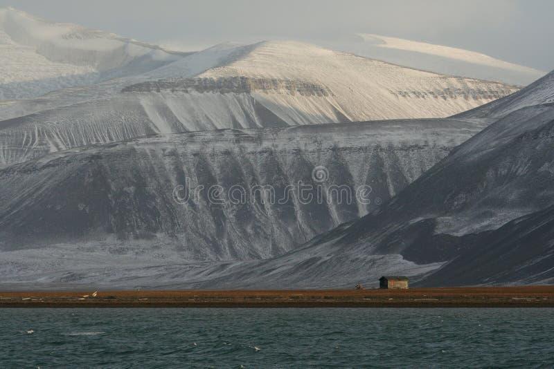 Coles Baai, Spitzbergen stock foto