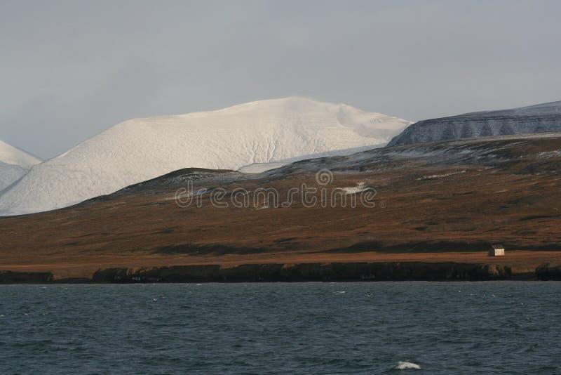 Coles-Schacht, Spitzbergen lizenzfreie stockbilder