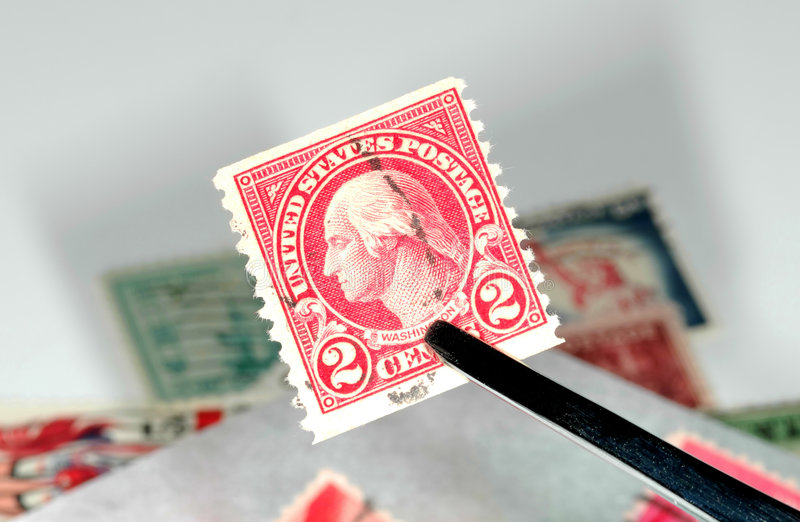Coleta de selo fotos de stock