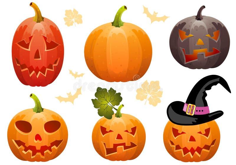 Colete a abóbora para Halloween ilustração do vetor
