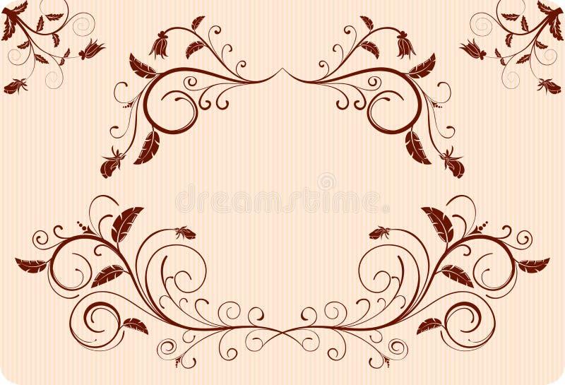 Colete a beira da flor ilustração royalty free