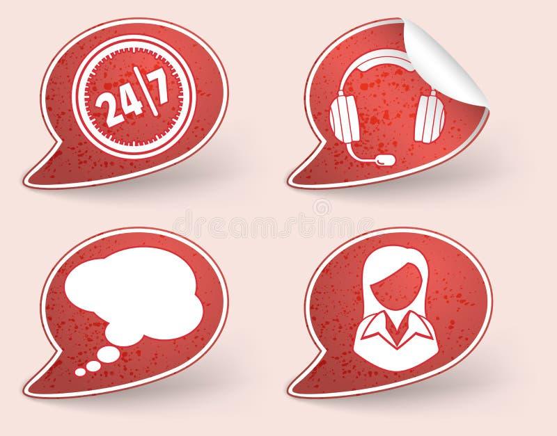 Colete a etiqueta com ícone da mulher de negócio ilustração do vetor