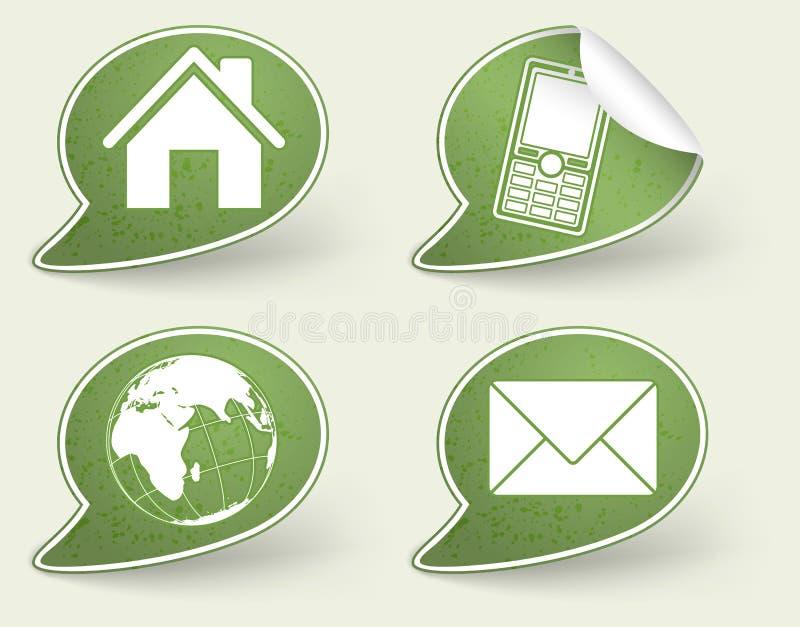 Colete a etiqueta com ícone do Internet ilustração do vetor