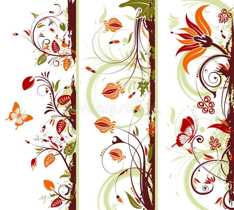 Colete o frame floral ilustração do vetor