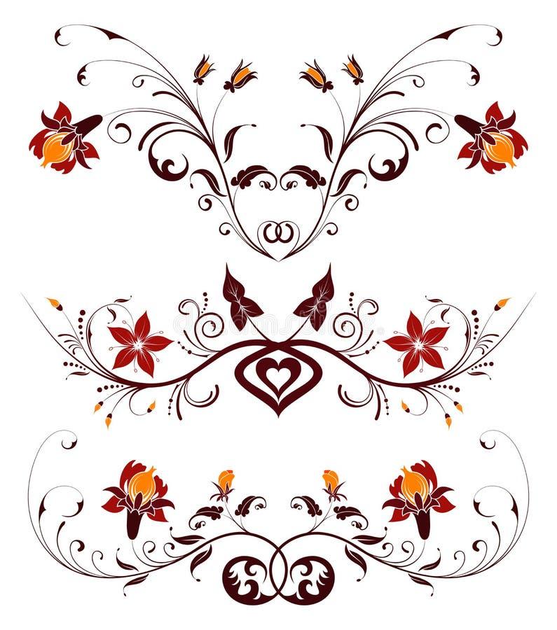 Colete o fundo da flor ilustração do vetor