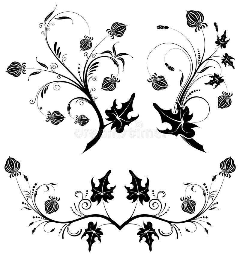 Colete o fundo da flor ilustração royalty free