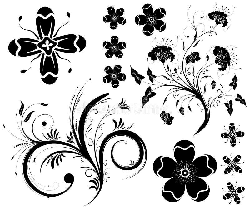 Colete o fundo da flor ilustração stock