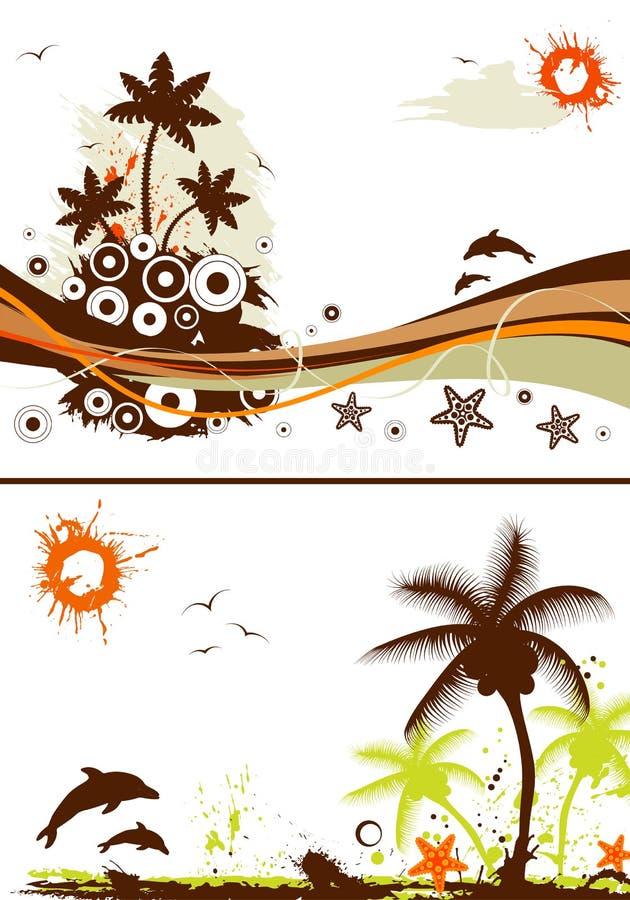Colete o projeto do verão ilustração do vetor