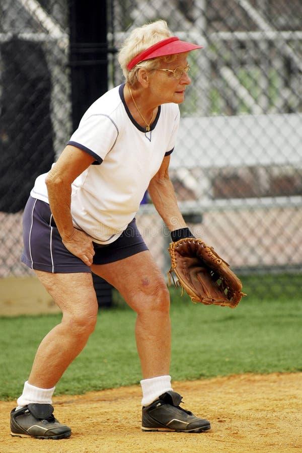 Coletor do softball fotografia de stock