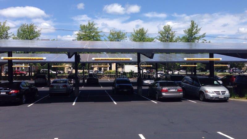 Coletores solares fotos de stock