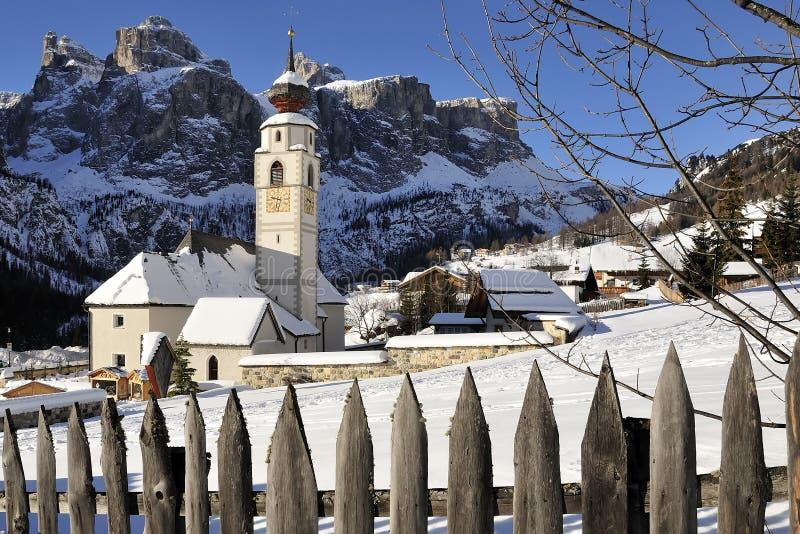 Colfosco, Italië stock afbeelding