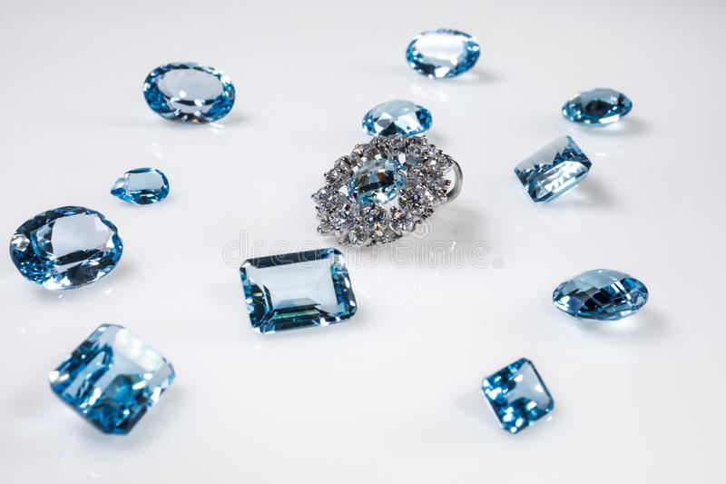 Colgante con los diamantes fotos de archivo libres de regalías